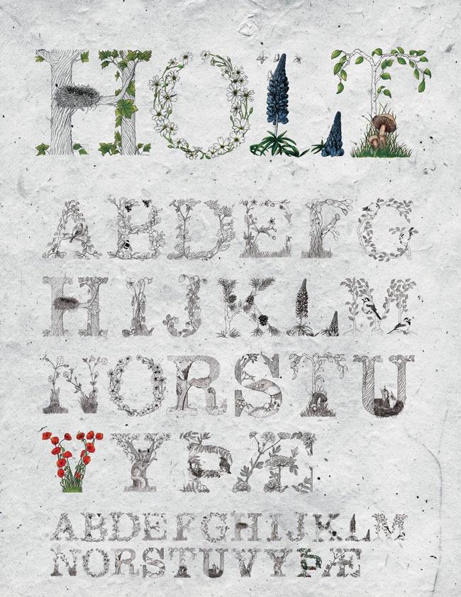 HOLT typeface